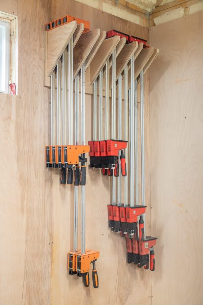How to build an easy DIY clamp rack from scrap wood
