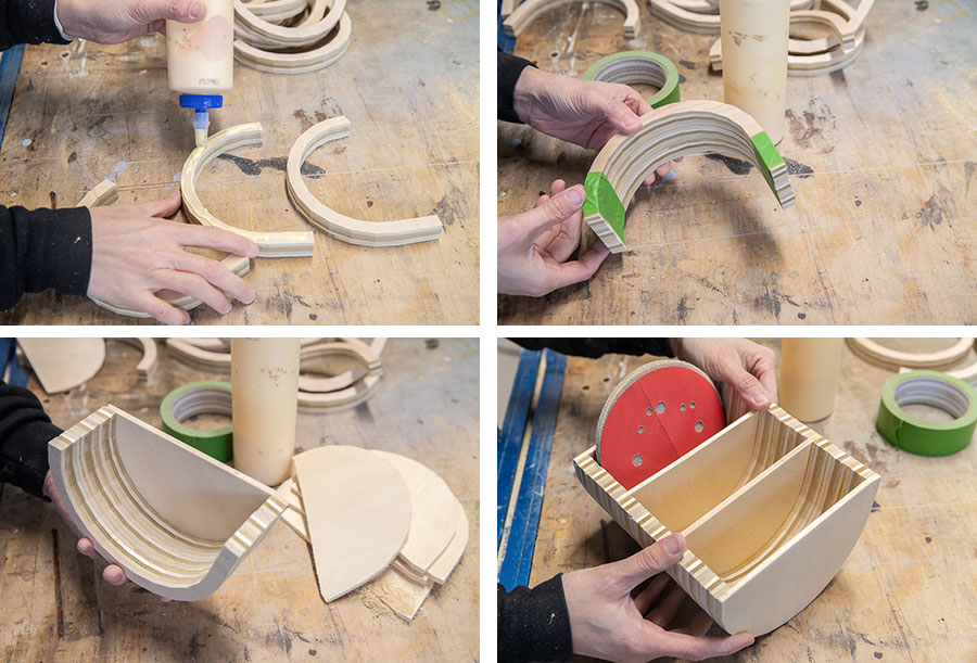 How to make a DIY sanding disc sandpaper storage organizer from scrap wood