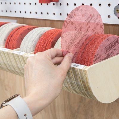 DIY Sanding Disc Storage Organizer
