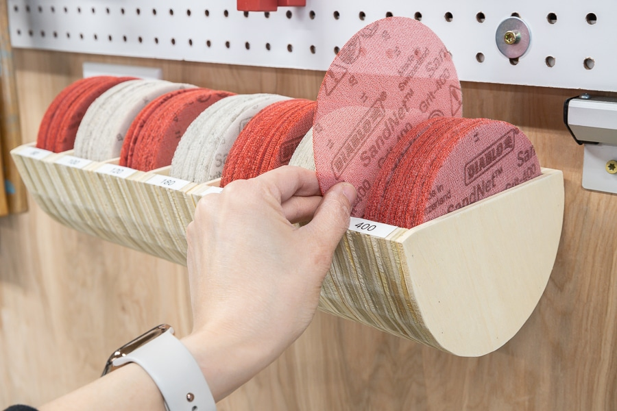 How to make a DIY Sandpaper Storage Organizer From Scrap Wood