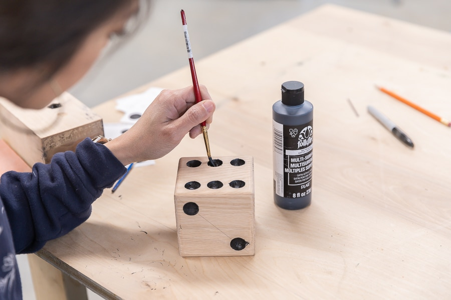 How to make Yardzee DIY yard dice from scrap wood
