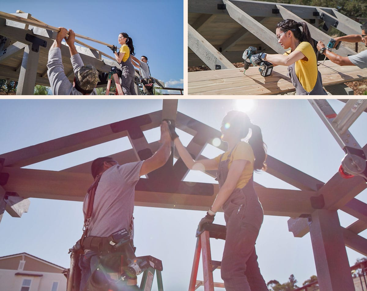 Build a DIY pergola or outdoor party pavilion in a weekend with Simpson Strong-Tie Outdoor Accents