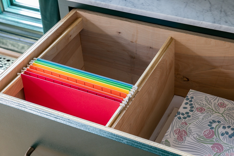 How to make DIY built-in file cabinets