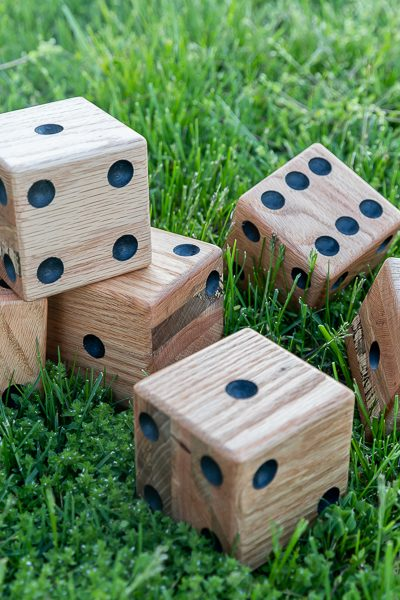 How to make giant yard dice