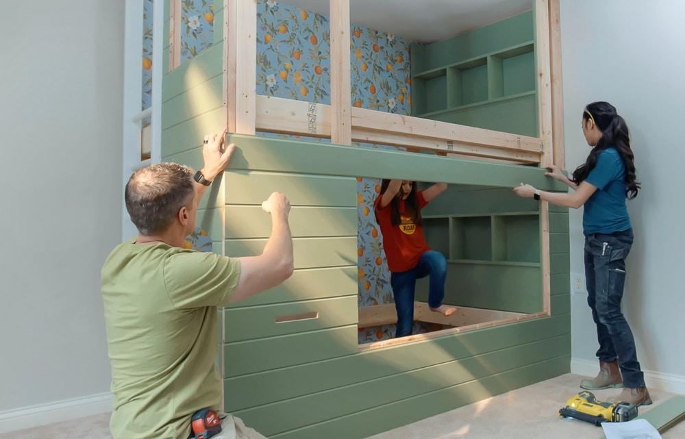 How to build DIY kids bunk beds