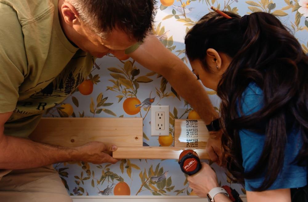 DIY built-in bunk bed for kids