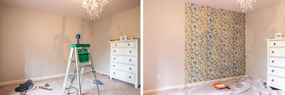 DIY wallpaper installation with Graham & Brown wallpaper