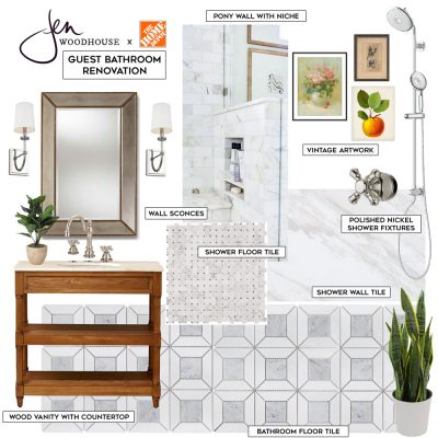 Guest Bathroom Renovation Mood Board