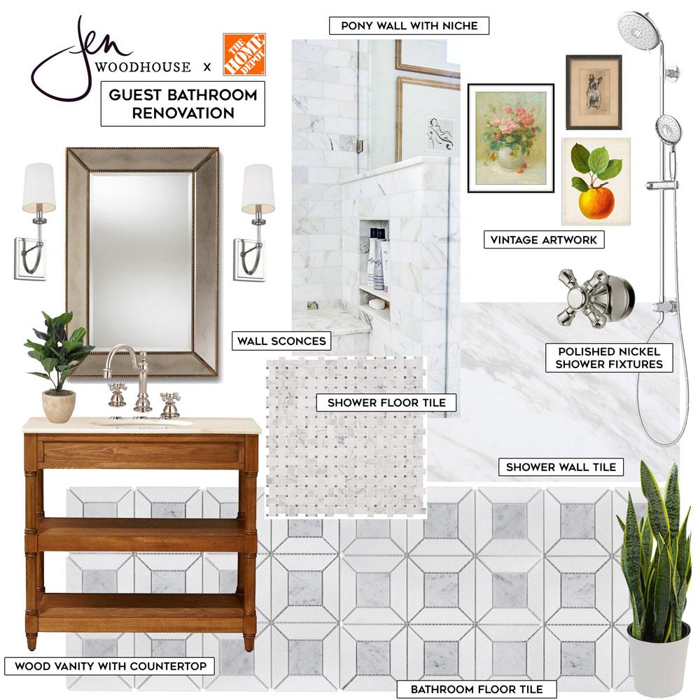 Guest Bathroom Renovation Mood Board