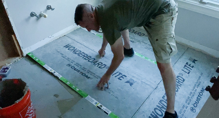 Installing cement board over wood subfloor