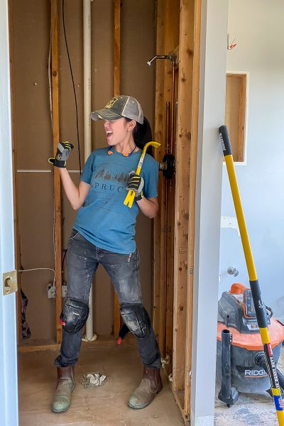 Guest Bathroom Renovation - Demo Day! How to demo a small bathroom the easy way