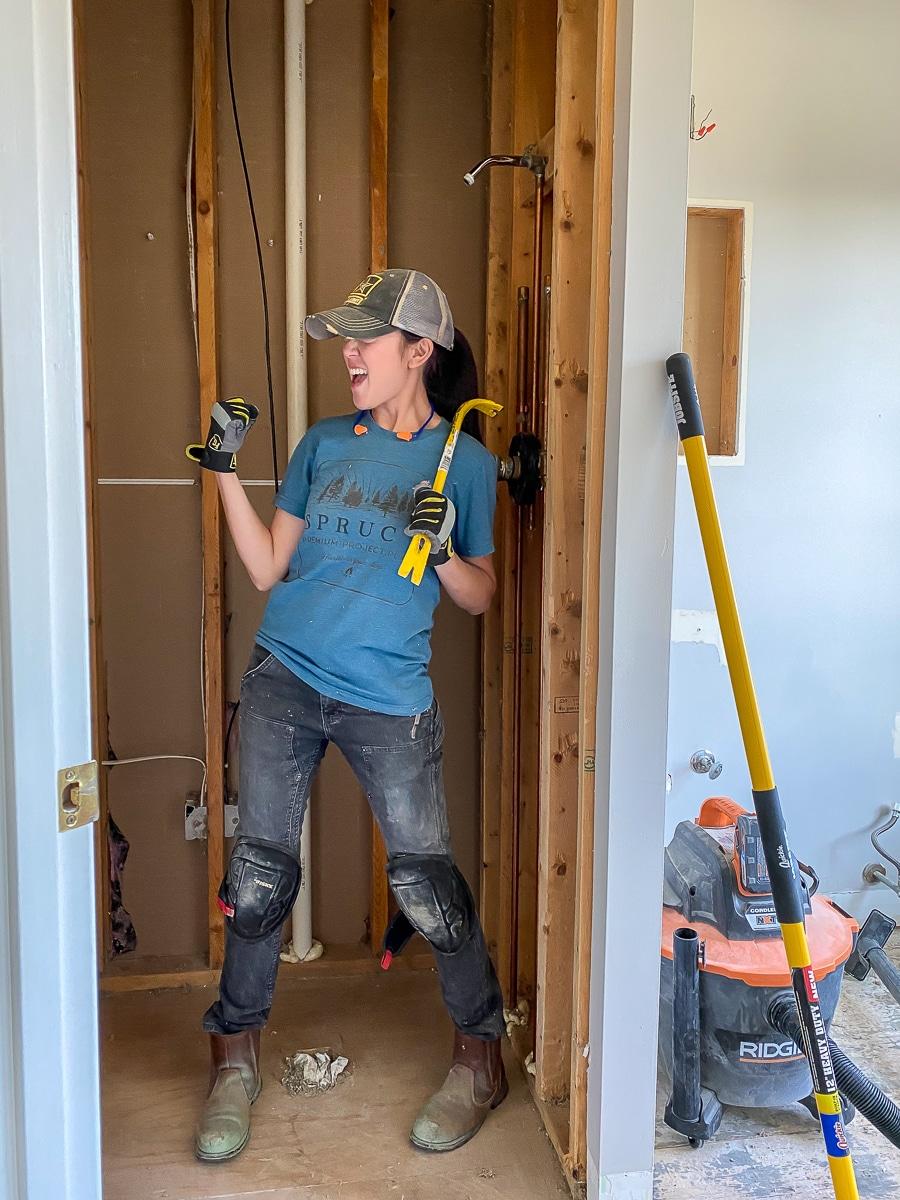 Guest bathroom demolition renovation