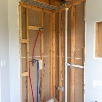 Guest Bathroom Renovation (Part 3) – Plumbing Rough-In and Floor Leveling