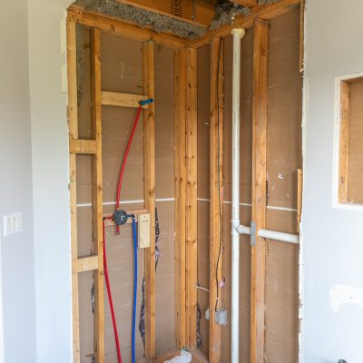 Guest Bathroom Renovation (Part 3) – Plumbing Rough-In and Floor Leveling
