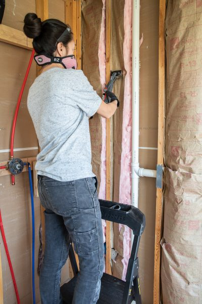 Insulating and Installing Cement Board on the Shower Walls