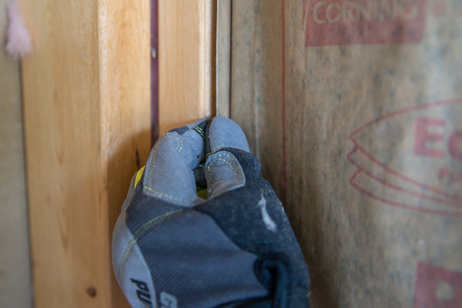 How to staple insulation to the studs
