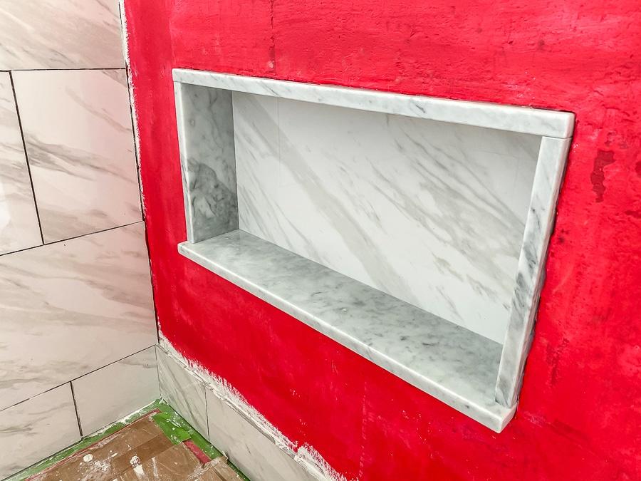 Tiling a shower niche