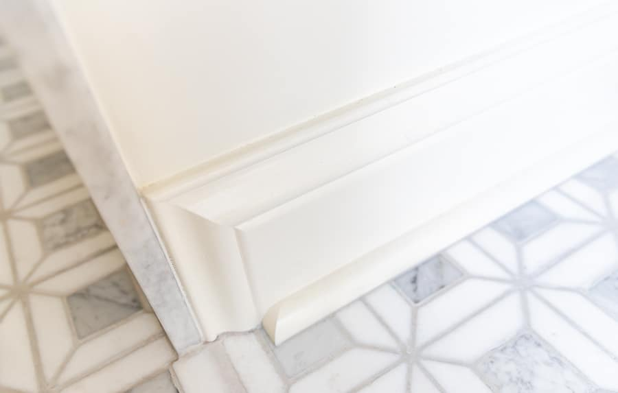 How to end baseboards and cut quarter round returns