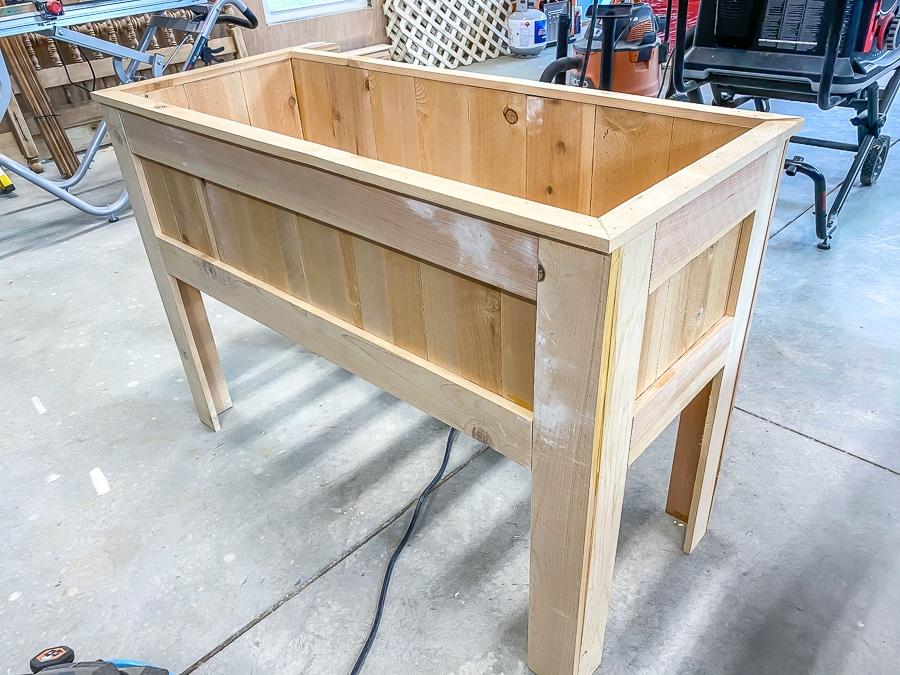 DIY raised planter box for $50