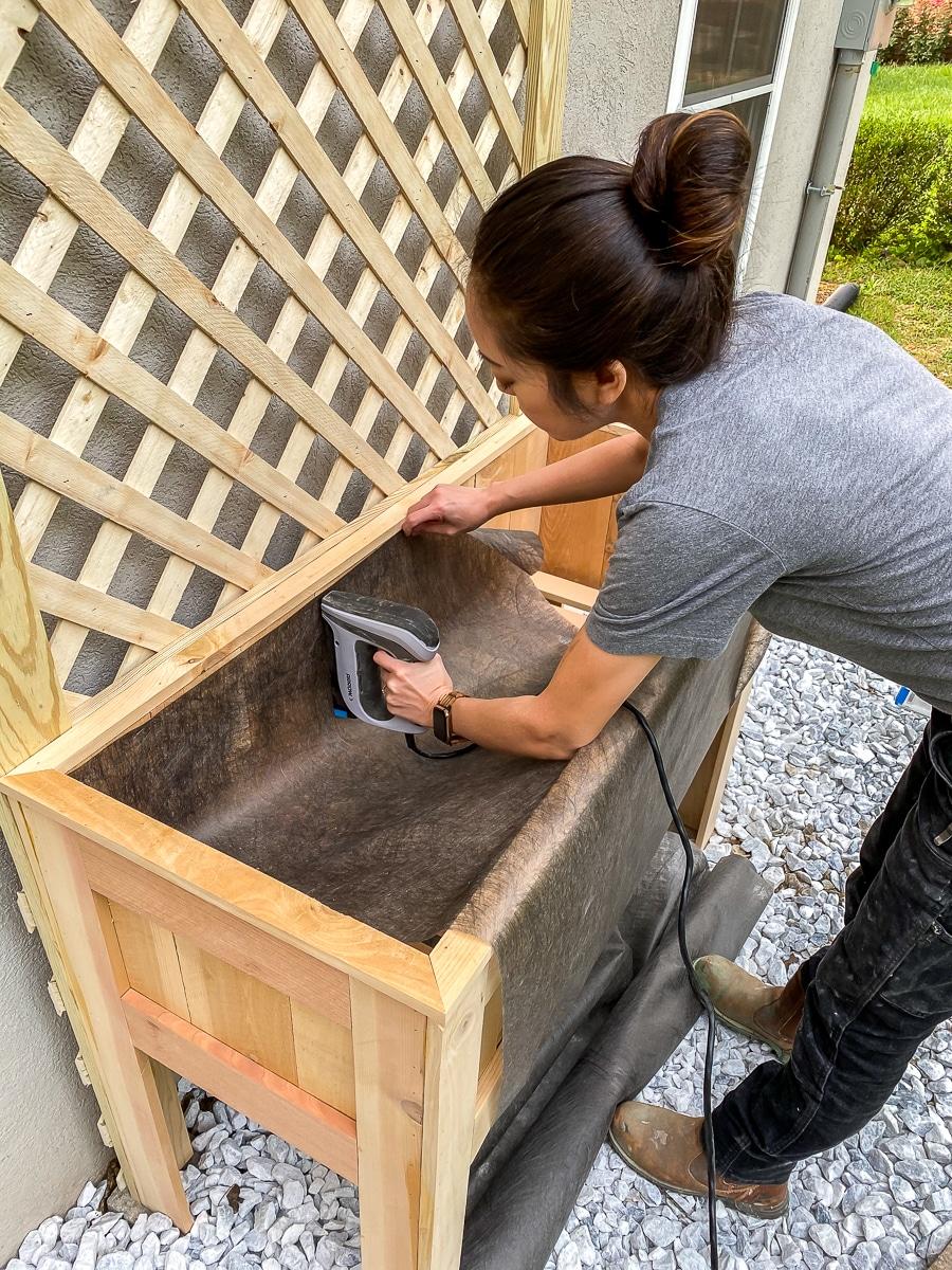 DIY raised planter with trellis - How To Make
