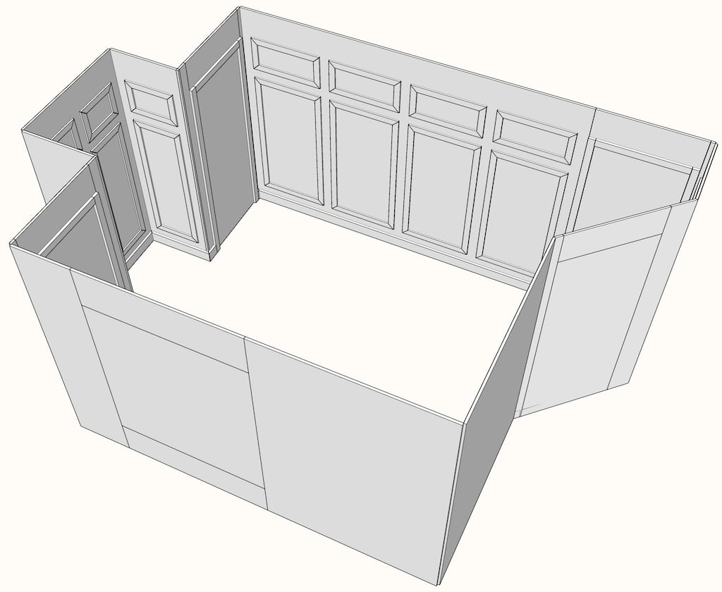 picture frame molding wainscoting layout