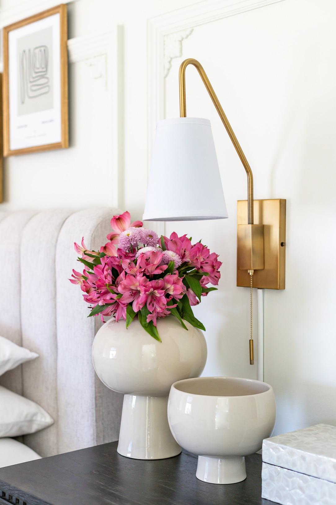 guest bedroom makeover - wall sconces
