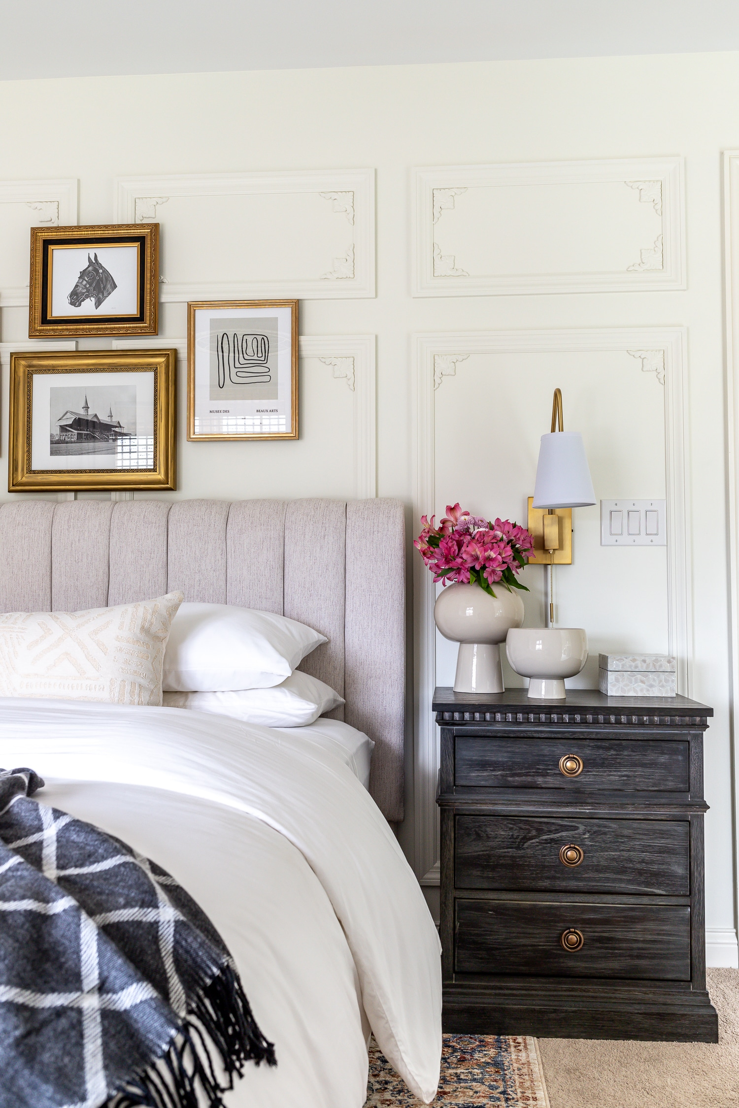Parisian inspired guest bedroom makeover