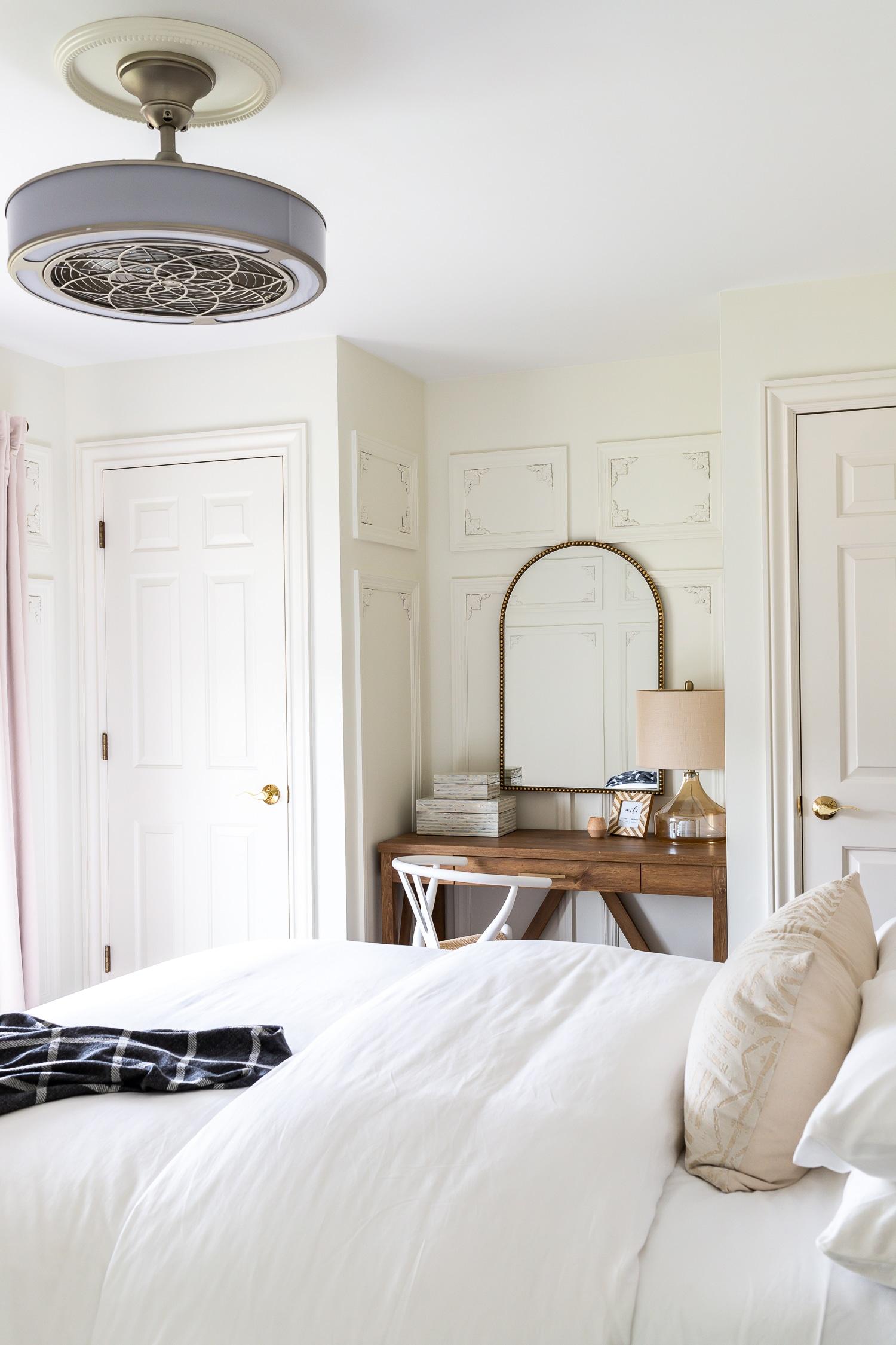 Stunning Parisian-inspired guest bedroom makeover