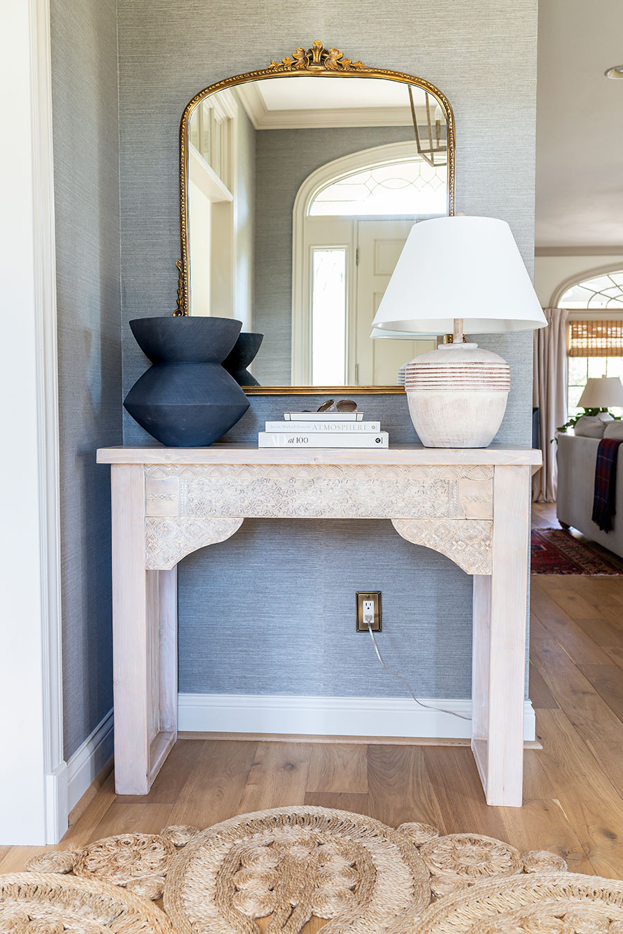 How to make a DIY carved entryway console table