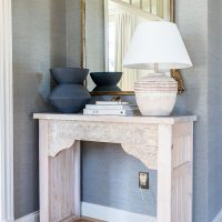DIY Carved Entryway Console Table