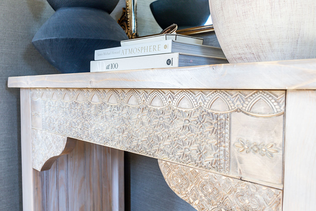 Gorgeous DIY carved console table