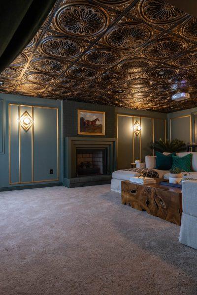 1920s Art Deco Basement Home Theater Renovation