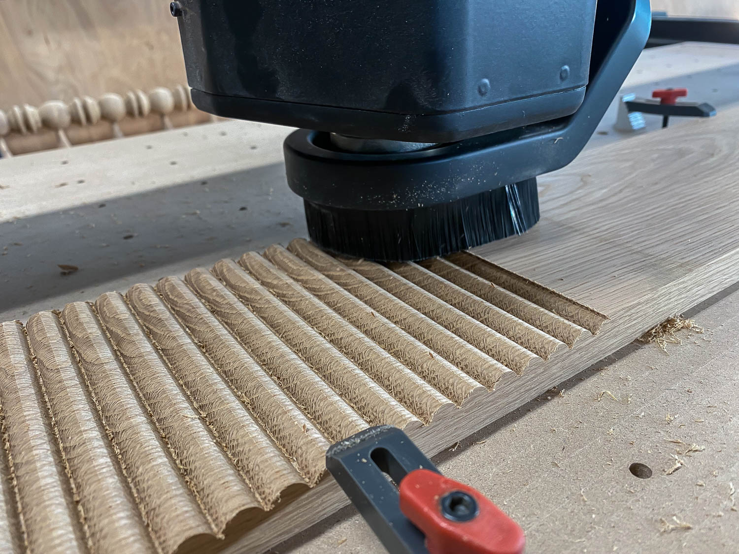 Routing a beaded profile in white oak hardwood for DIY nightstands