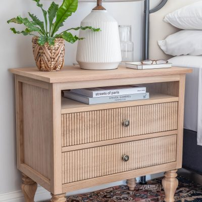 DIY White Oak Nightstands