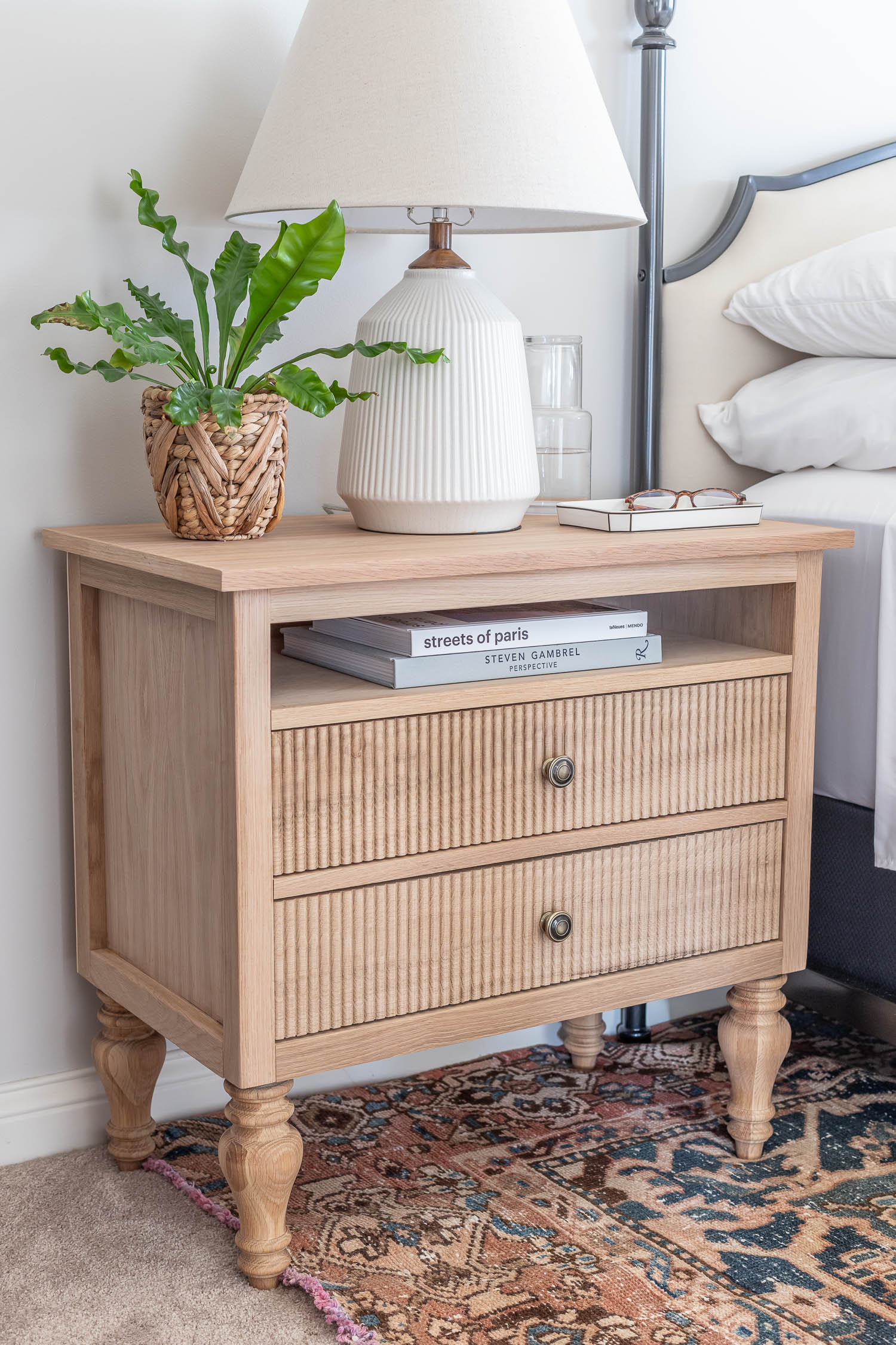 How to build a DIY nightstand - French country / Swedish Gustavian style nightstand