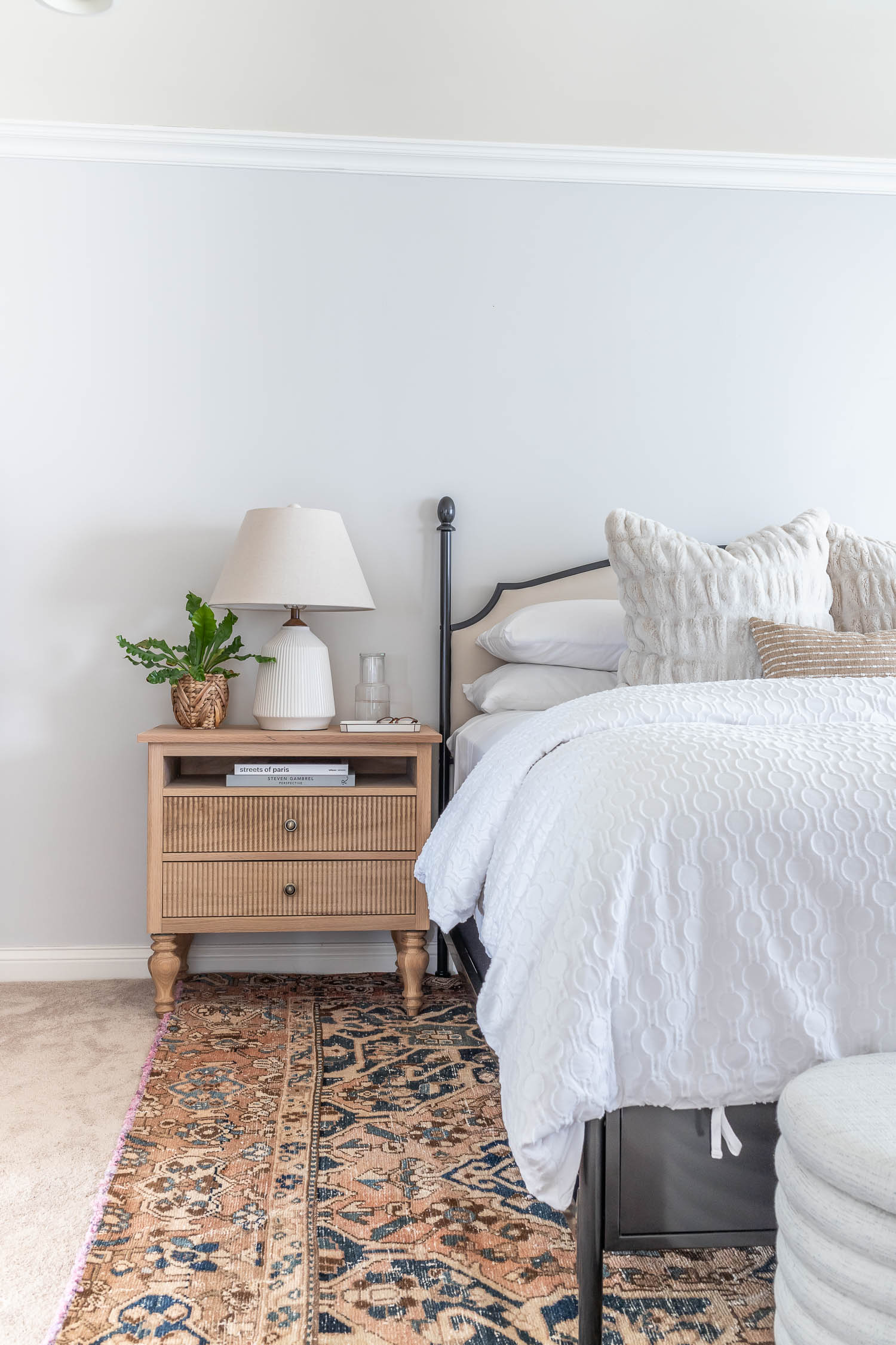 How to build DIY nightstands - beautiful French bedside tables from white oak