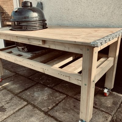 Mobile Kamado Grill Table