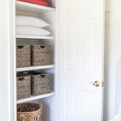 Guest Bedroom Closet Makeover