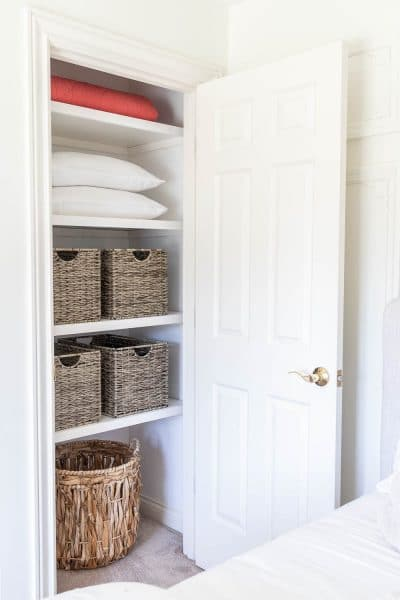 Small bedroom closet makeover for less than $150 and in one weekend!