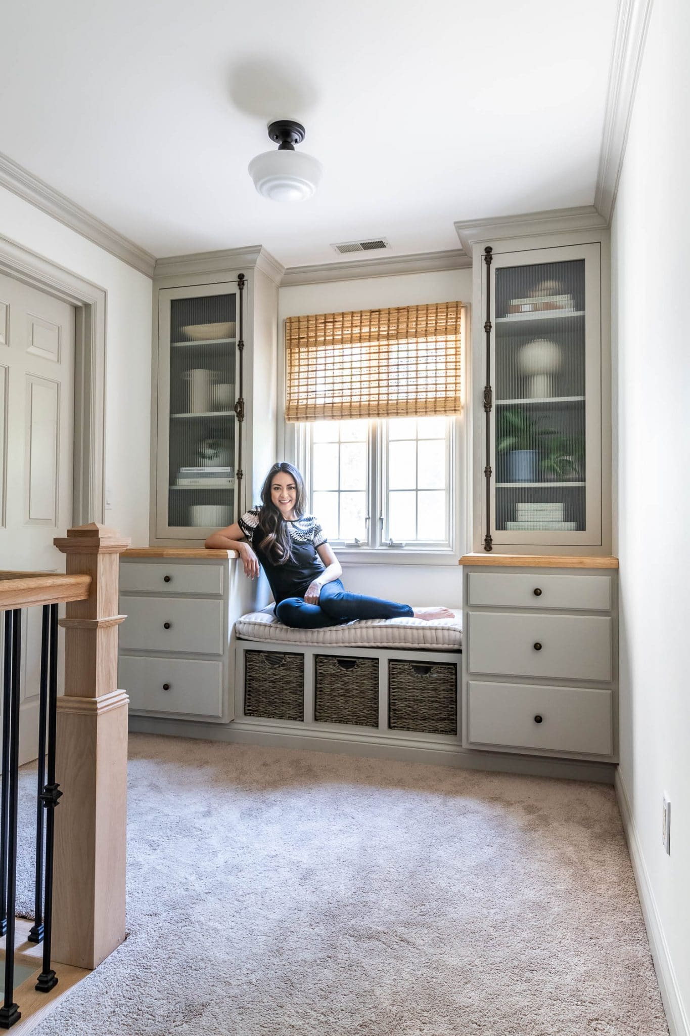 DIY Built-In Bookcases, Cabinets, and Window Bench
