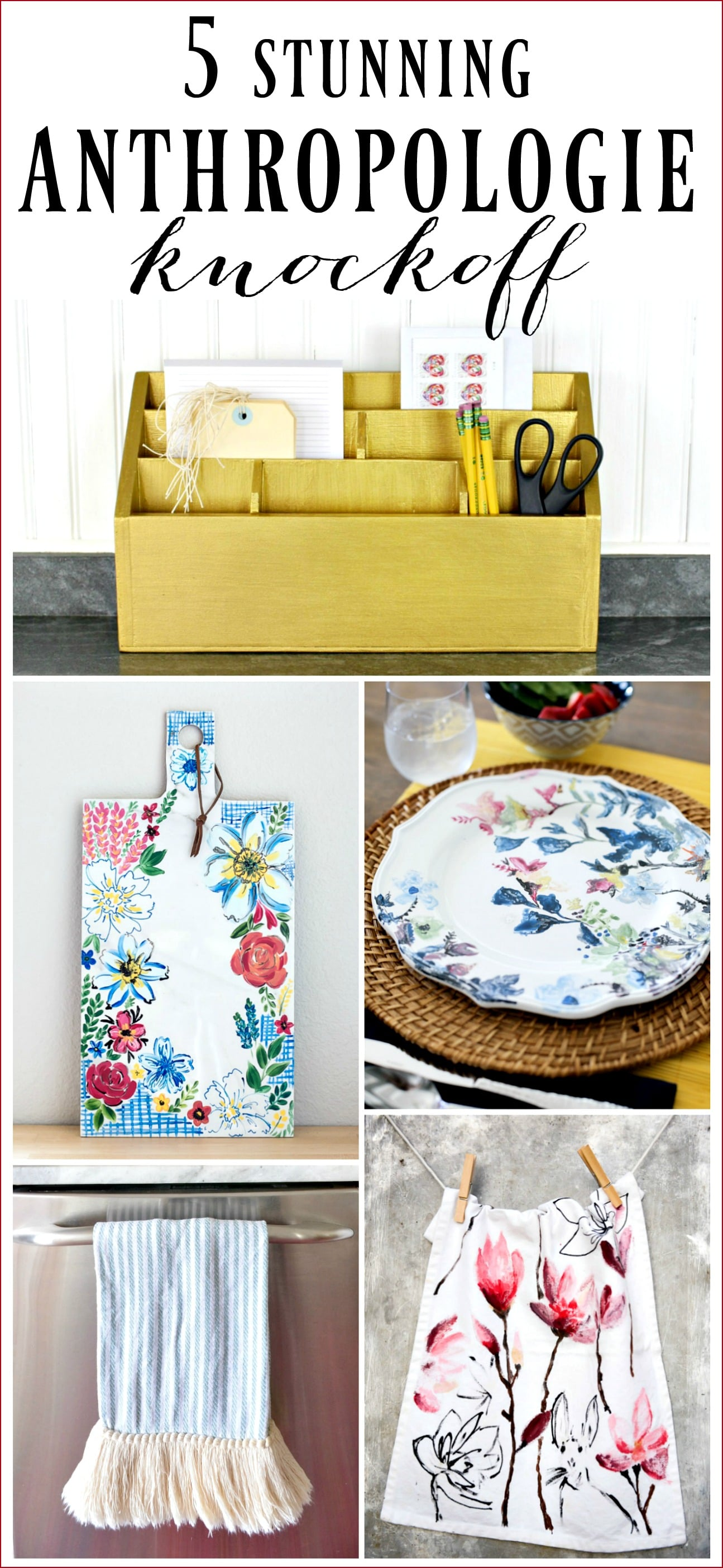 Love Anthropologie but don't love the price? Check out these 5 stunning Anthropologie knockoffs!