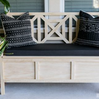 How to build a DIY outdoor storage bench with free plans