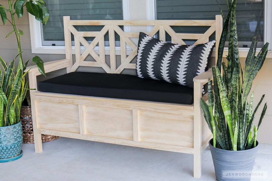 How to build a DIY bench with storage with plans