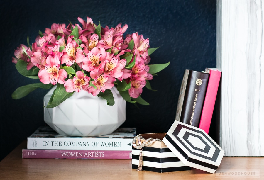 Add fresh flowers to your nightstand to celebrate Spring