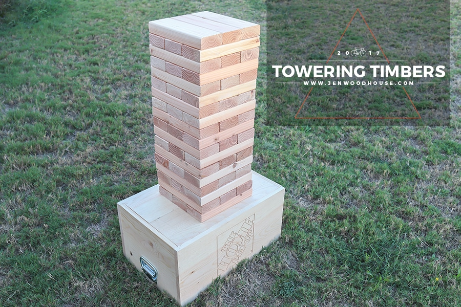 How to make a DIY giant Jenga yard game