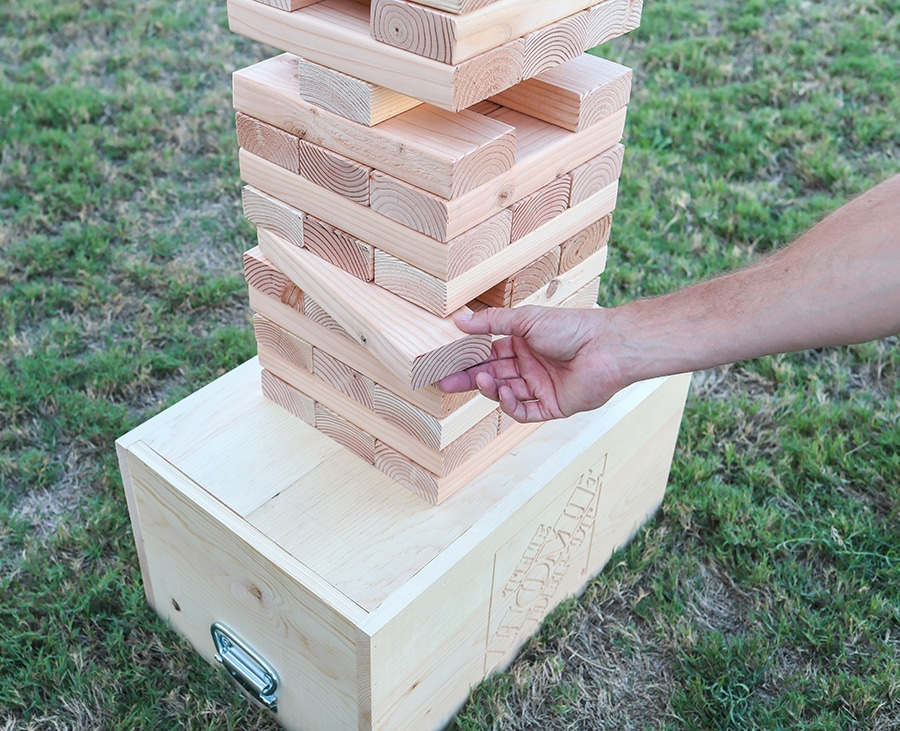 How to make a DIY oversized Jenga outdoor yard game
