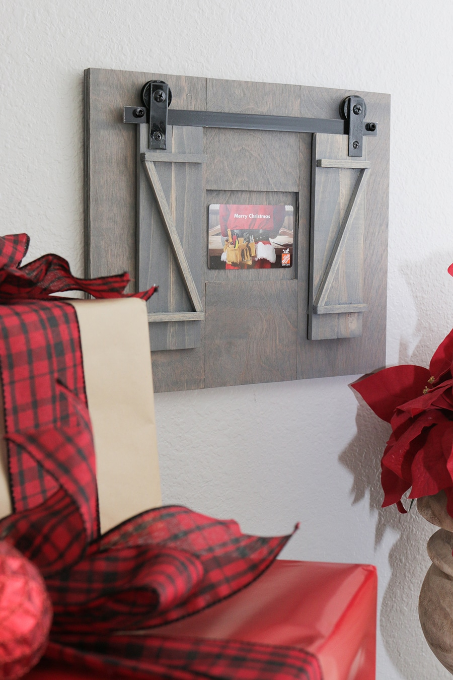 Mini Rolling Barn Door Gift Card Holder
