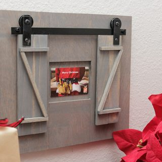 Give a gift card in style! Build a miniature rolling barn door gift card holder!