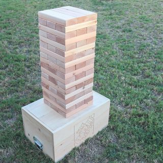 How to make a DIY giant Jenga outdoor yard game