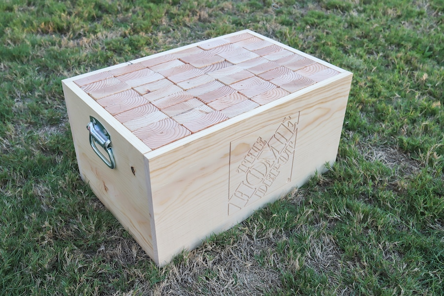 How to make a DIY giant Jenga game with storage box